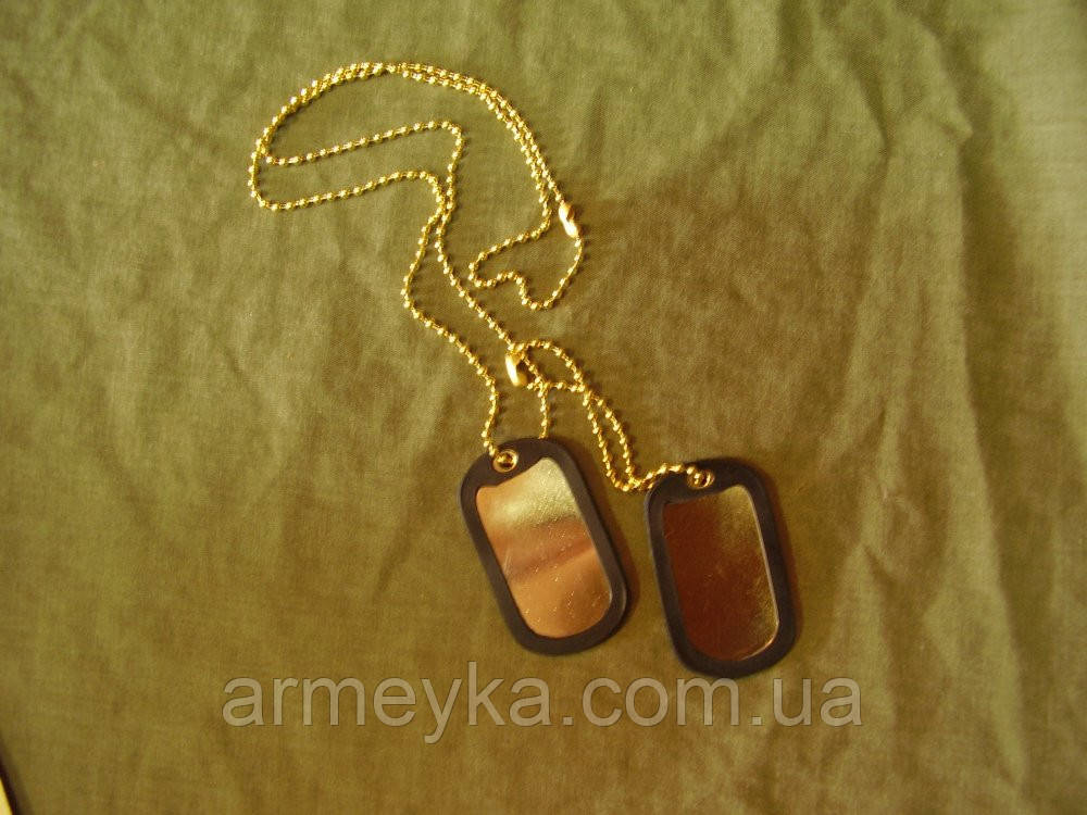 Армейские жетоны Dog-Tag армии США (золото)