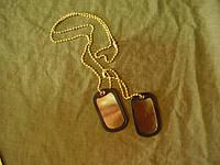 Армейские жетоны Dog-Tag армии США (золото), фото 1