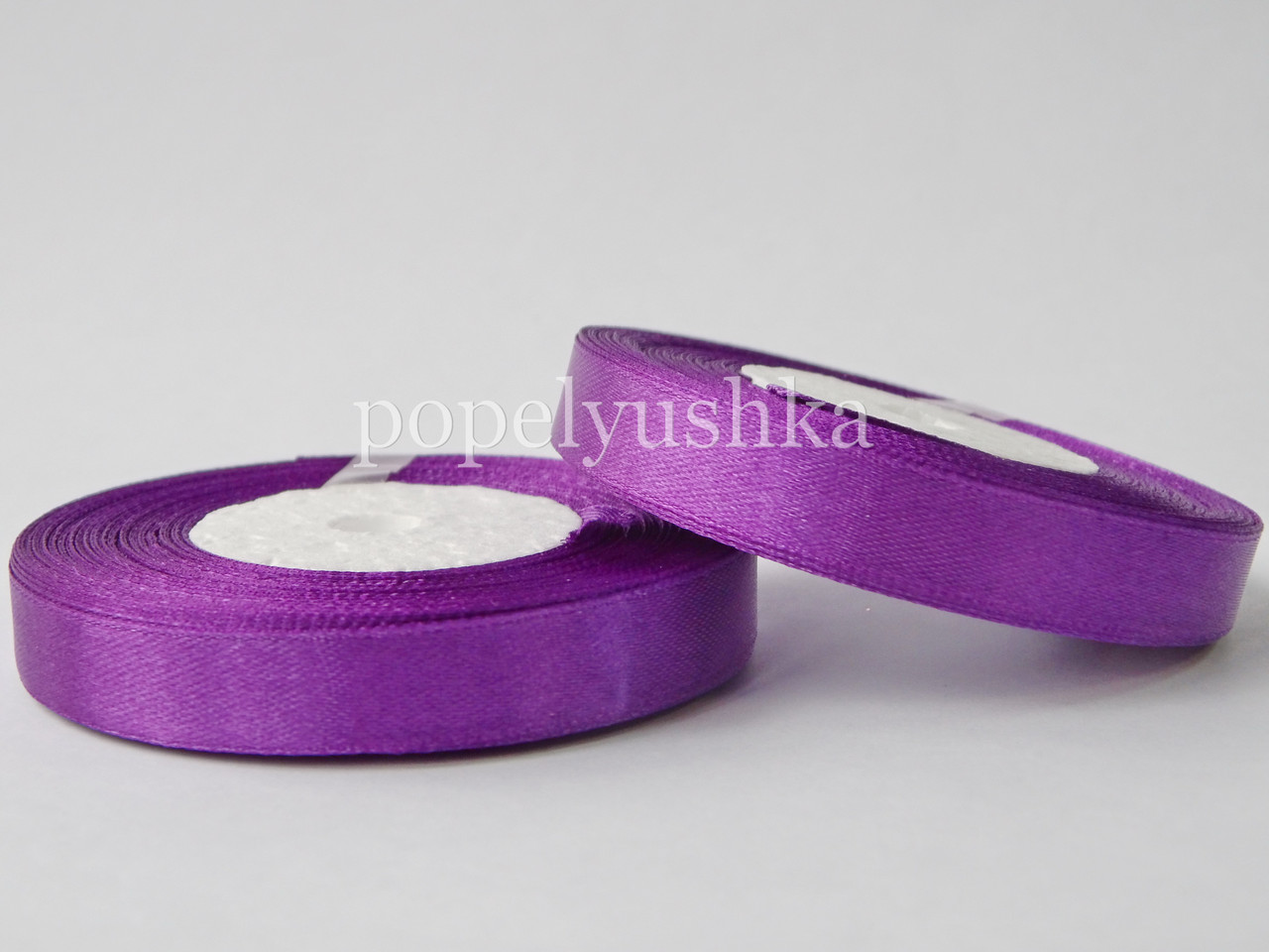 Стрічка атласна 1,2 см фіолетова
