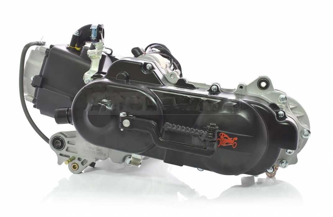 Двигатель GY6 80cc 40cm, под два амортизатора