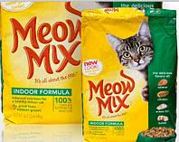Корм Мяу Микс Meow Mix Indoor Formula для домашних кошек 6,44 кг акция