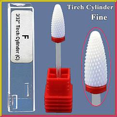 Фреза Керамическая Насадка для Ногтей Кукуруза Красная Тонкая F Tirch Cylinder C