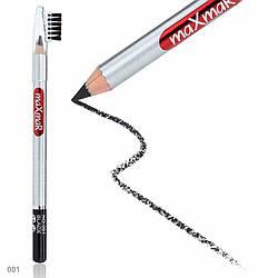 Олівець для брів зі щіточкою maXmaR № 01 MC-003