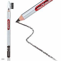 Олівець для брів зі щіточкою maXmaR № 04 MC-003