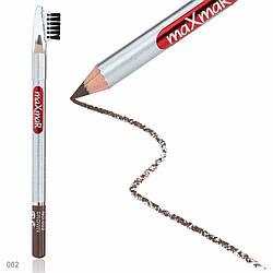 Олівець для брів зі щіточкою maXmaR № 02 MC-003