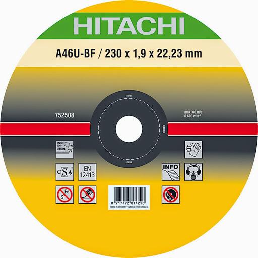 Диск отрезной для нержавеющей стали 230х1,9 мм Hitachi/hikoki 782315