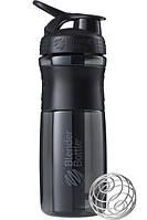 Бутылка-шейкер спортивная BlenderBottle SportMixer 820ml Black, original R144862