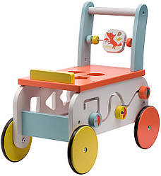 Ходунки-каталка Labebe 2in1 wooden activity walker ride on HY1710015