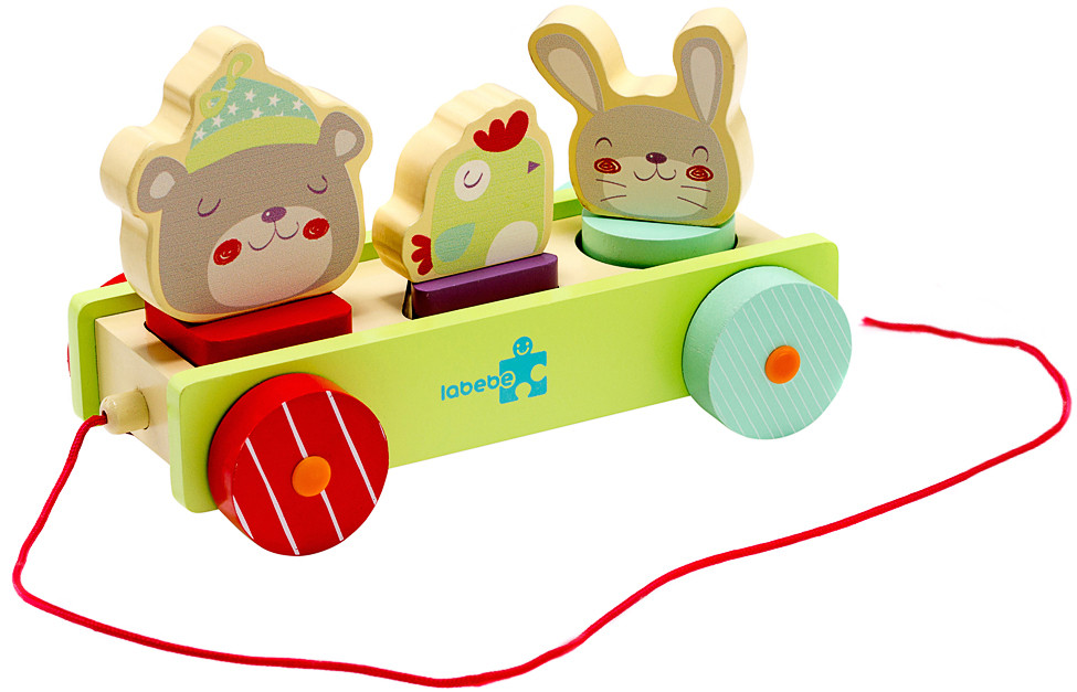 Іграшка Labebe Animal Pull-A-Long Car 12m+ HY1610006