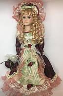 Интерьерная сувенирная кукла, фарфоровая, коллекционная 45 см 09 А