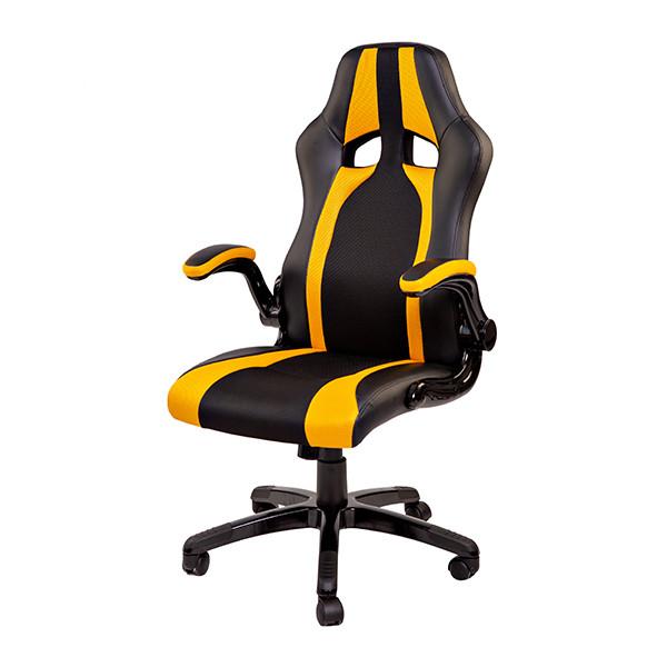 """Компьютерное кресло для геймера """"Zeus Miscolc"""" черно-желтый"""
