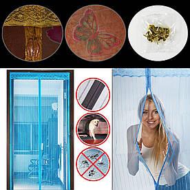 Сетка от комаров на дверь на магнитах, 210х100, с Рисунком