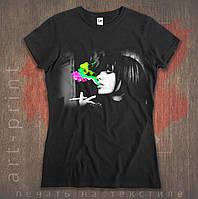 Прямая цифровая печать на футболках черных