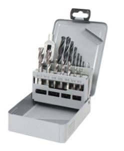 Набор машинно-ручних мітчиків М3-М12 Form C/RSP35°  зі свердлами 15 предметів GSR Німеччина