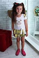 """Платье летнее детское белое с желтым """" Мишка"""" размер 13 639"""