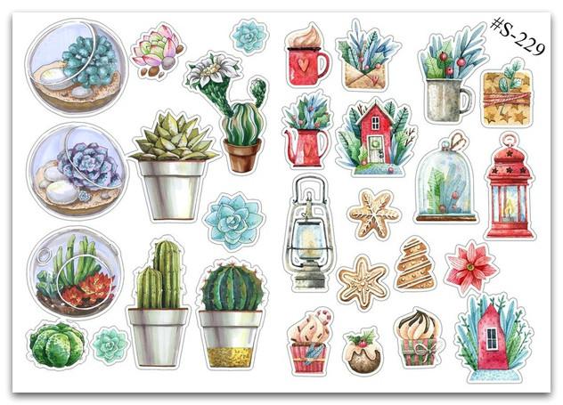 Stickers Pack Кактусы #229