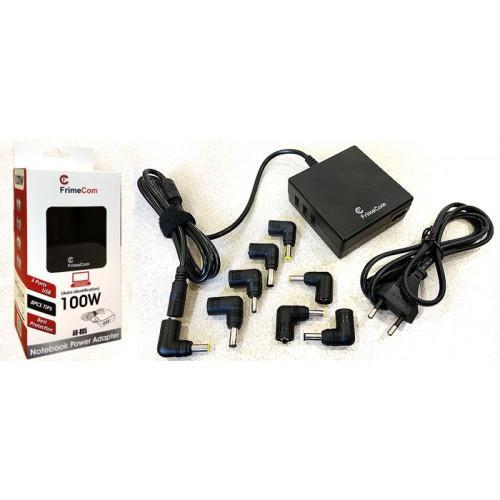 FrimeCom AD-805 100W Універсальний (110-240В, 12В, 8 перехідників, 15-20В, 3 USB порта)