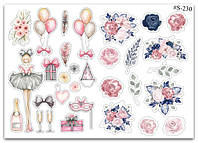 Stickers Pack Watercolor #230