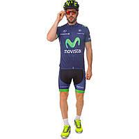 Велоформа короткий рукав MOVISTAR (синий-зеленый)