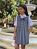 """Подростковый школьный сарафан """"Бант"""" со складками (3 цвета), фото 4"""