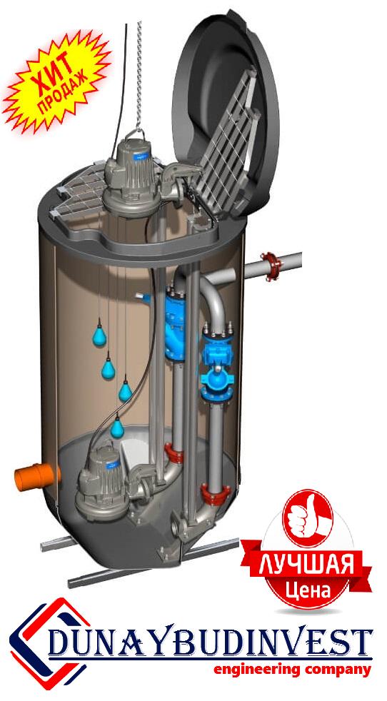 КНС из полипропилена (погружные насосы) 500-1000 м3/ч