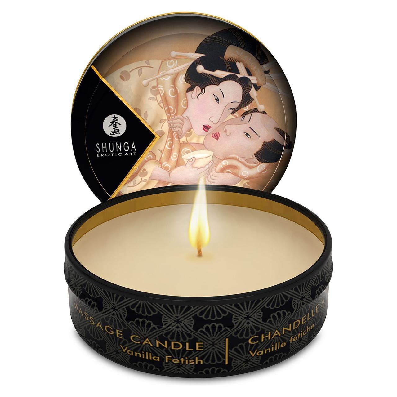 Свеча для массажа Shunga ROSE PETALS, 30 гр