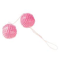 Вагинальные шарики Girly Giggle Balls Tickly Soft Pink, 3 см , фото 2