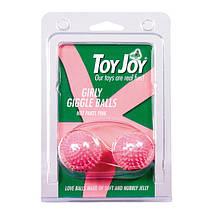 Вагинальные шарики Girly Giggle Balls Tickly Soft Pink, 3 см , фото 3