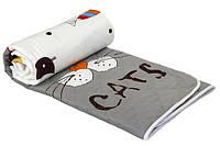 Одеяло летнее шерстяное  Руно™  «My Cat» 140х205см