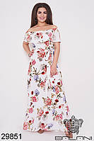 Платье летнее в пол белое большой размер
