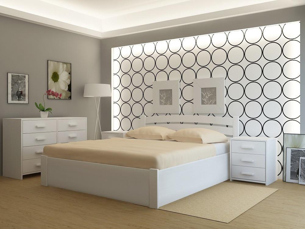 """Кровать деревянная TM """"YASON"""" Madrid PLUS с подъемным механизмом Вишня (Массив Ольхи либо Ясеня)"""