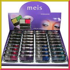Тени Meis MS-0225 Двойные Матовые и Атласные Компактные, Упаковкой 36 шт.