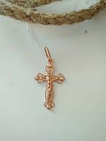 Золотой крестик 585 пробы с цирконием