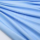 Лоскут сатина  премиум, цвет светло голубой,№1089, фото 4