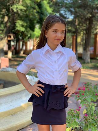 """Школьная детская рубашка для девчоки """"Вектор"""" с длинным рукавом, фото 2"""
