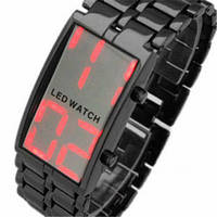 Мужские стильные часы Iron Samurai c LCD дисплеем