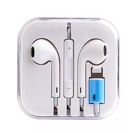🔝 Стерео наушники для телефона (Айфона) с гарнитурой - Apple Earpods Lightning - наушники на айфон   🎁%🚚