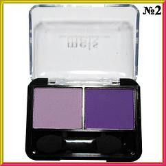 Тени для Век Meis MS-0225 Двойные Матовые Фиолетового Цвета Тон 02