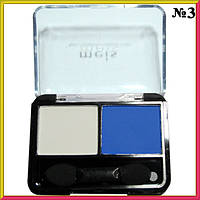 Тени для Век Meis MS-0225 Двойные Матовые Белого и Синего Цвета Тон 03