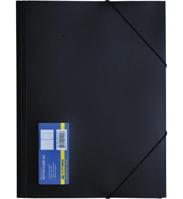 Папка пластиковая на резинке А4 черная BM3913-01