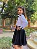 """Расклешенная детская школьная юбка """"School"""" на резинке (3 цвета), фото 3"""