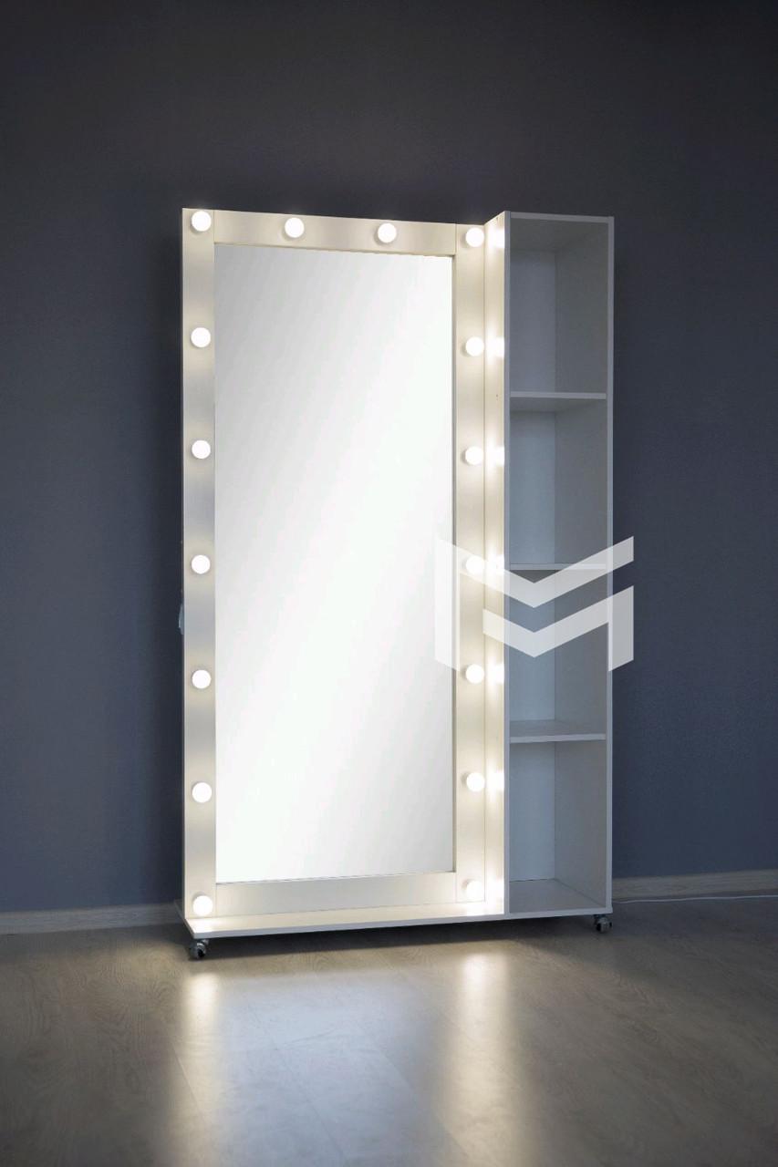 Купить Оборудование и товары для предоставления услуг, Место парикмахера М409 ДСП Белое 14 ламп (Markson TM), МарксонМеблі