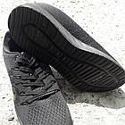 Кроссовки Bonote текстиль сетка чёрные р.44, фото 6