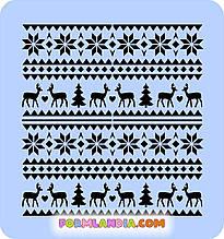 Трафарет для пряников Новый год №2