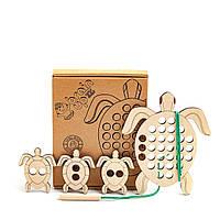 Бизиборд BrainUp Черепаха - развивающая игрушка по методике Монтессори