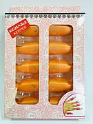 Зажим - клипса для снятия гель лака (упаковка - 10 шт.) Оранжевый