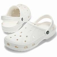 Crocs Шльопанці - сабо- крокси білі чоловічі  Ralen Clog (B01KXR6GHA) Розмір 9 (42-43) Оригінал
