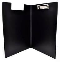 Папка-планшет А4 с прижимом черная E30153-01