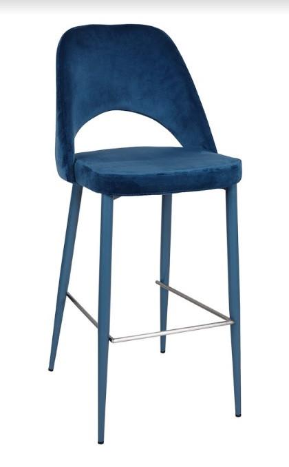 Стул барный INNSBRUCK (48*60*94/75 см, текстиль) синий