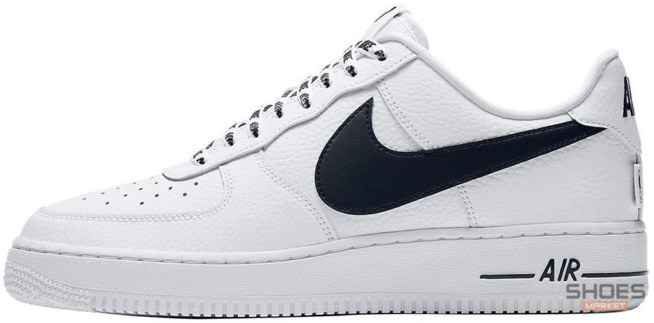 Мужские кроссовки Nike Air Force 1 Low NBA Pack White Black 823511-302, Найк Аир Форс